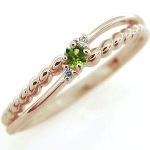 ファランジリング 誕生石 指輪 リング 10金 ピンキーリング 重ね付け|plejour