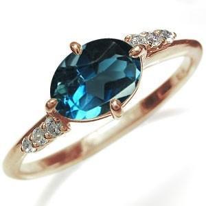 大粒 リング ロンドンブルートパーズ 18金 指輪 リング|plejour