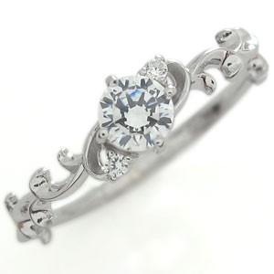 アラベスクリング 婚約指輪 ダイヤモンド リング 18金 エンゲージリング プロポーズ用|plejour