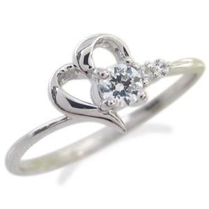 ダイヤモンド リング プラチナ ハート リング 指輪|plejour