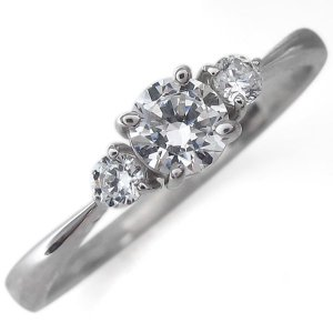 婚約指輪 エンゲージリング プラチナ ダイヤモンド シンプル ダイヤリング|plejour