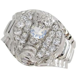 プラチナ 蛇 指輪 スネーク コブラ リング 誕生石 メンズリング|plejour