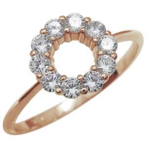 ダイヤモンド エタニティーリング 指輪 K10 サークルリン...