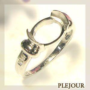 リフォーム用 指輪 K18ゴールド 空枠 リング|plejour