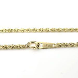 18金 ネックレス 中空ロープ 2.0mm チェーン|plejour