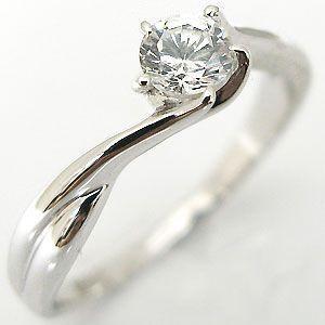 0.3ct 婚約指輪 安い エンゲージリング ダイヤモンド リング 18金  指輪|plejour