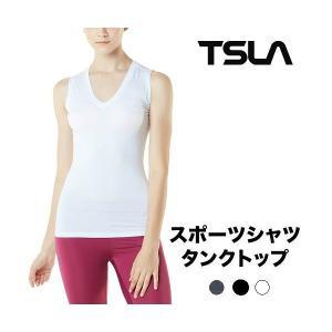 テスラ レディース スポーツシャツ タンクトップ [UVカット・吸汗速乾] ヨガウェア TESLA FYN01|plum-net