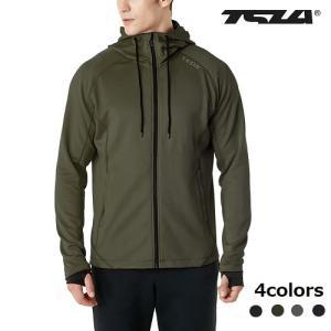 テスラ ランニング ジャケット UVカット・防風 アスレジャー部活 トレーニングTESLA MKJ03-BLK/GRY/NVY/KHK|plum-net