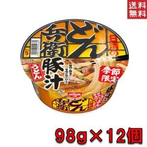日清 どん兵衛 豚汁 うどん 12個 98g ケース売り 送料無料 賞味期限2020.5.15 (発送 沖縄・離島不可) plumterracenet