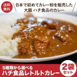 大阪名物 ハチ食品 レトルトカレー 5種類から選べる 2袋セット ポイント消化 ポスト投函便 送料無料 大人気 カレー