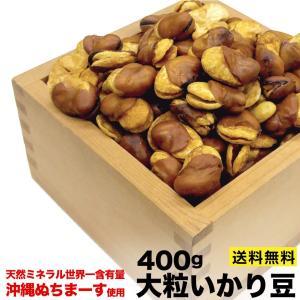 沖縄 ぬちまーす 使用 大粒 いかり豆  400g ギネス評価 ミネラル豊富な塩 ポスト投函便 送料無料|plumterracenet