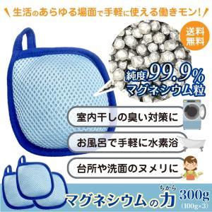 マグネシウムの力 300g (100gx3) 300回使える 入浴剤 1回あたり たったの 10円  水素浴  敏感肌 マグネシウム 洗濯 美容 ポスト投函便送料無料|plumterracenet