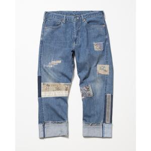 【予約商品】SEVESKIG(セヴシグ) USED EASY DENIM PANTS plus-c
