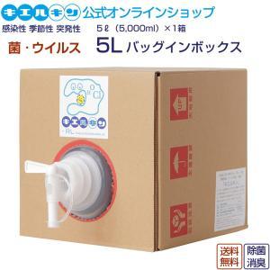 キエルキン 5L バッグインボックス 送料無料 次亜塩素酸水溶液 除菌 消臭 plus-t