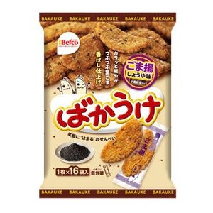 Befco ベフコ 栗山米菓 ばかうけ ごま揚しょうゆ味 16枚入 :11-5742 ...