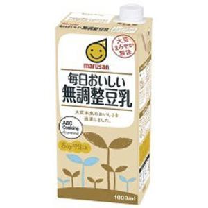 マルサンアイ 毎日おいしい 無調整豆乳 紙パック 1000ml|plus1spot