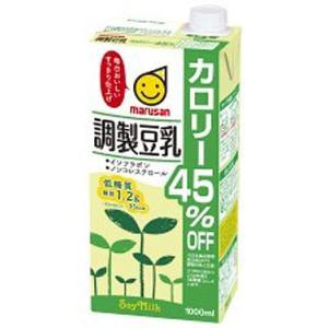 マルサンアイ 調製豆乳 カロリー45%オフ 紙パック 1000ml|plus1spot