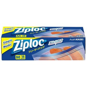 Ziploc ジップロック フリーザーバッグ M 16枚