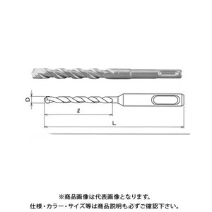 関西工具製作所 SDS-plus シャンク・ハンマードリルビット 14.5mm (D) x 160mm (L) 1本 D0R0145160 plus1tools