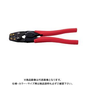(おすすめ)エビ 圧着工具 銅線用裸圧着端子・裸圧着スリーブ(P.B)用 AK19A|plus1tools