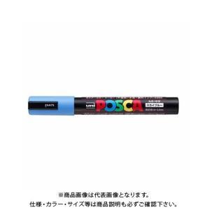 三菱鉛筆 ユニ ポスカ 中字丸芯 スカイブルー PC-5M.48|plus1tools