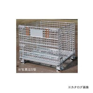 運賃見積り 直送品 伊藤製作所 123 吊り上げ式かご型パレットL型 1台 PM-LP|plus1tools