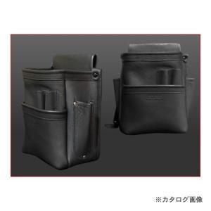 ニックス KNICKS 総グローブ革仕上腰袋フチ/総グローブ革テープ巻 ブラック KB-201DDSP|plus1tools