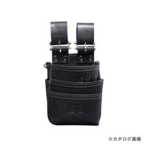ニックス KNICKS KBS-301DDX 総ヌメ革使用3段腰袋 ブラック|plus1tools