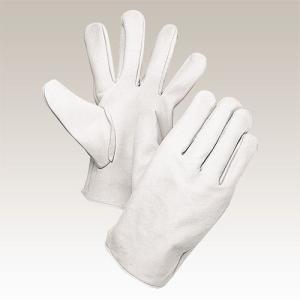 大中産業 [10双入] 牛革手袋 牛クレスト 白 LLサイズ 100W|plus1tools