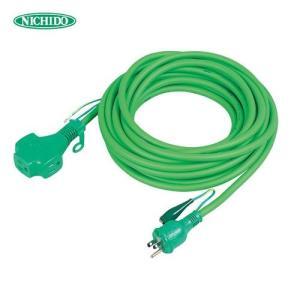 (おすすめ)日動工業 トリプルポッキン アース付 極太ソフト電線延長コード10m 緑色 PPT-10E-G (スプリングセール)|plus1tools