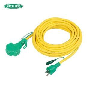 (おすすめ)日動工業 トリプルポッキン アース付 極太ソフト電線延長コード10m 黄色 PPT-10E-Y (スプリングセール)|plus1tools