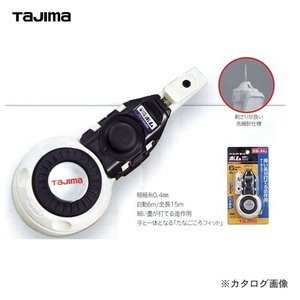 タジマツール Tajima パーフェクト墨つぼ ボム 6m 極細糸 白 PS-SUM6BMHI|plus1tools