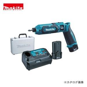 (おすすめ)マキタ Makita 7.2V 1.5Ah 充電式ペンインパクトドライバ 青 バッテリー×2本・充電器・アルミケース付 TD022DSHX|plus1tools