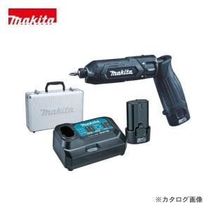(おすすめ)マキタ Makita 7.2V 1.5Ah 充電式ペンインパクトドライバ 黒 バッテリー×2本・充電器・アルミケース付 TD022DSHXB plus1tools