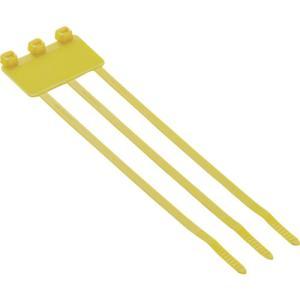 パンドウイット 旗型タイプナイロン結束バンド 黄 (500本入) PL3M2S-D4Y|plus1tools