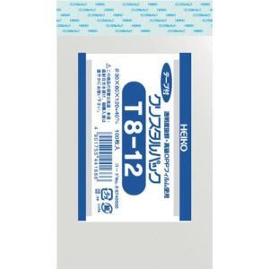 HEIKO OPP袋 テープ付き クリスタルパック T8-12 6740500 T8-12|plus1tools
