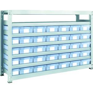 運賃見積り 直送品 TRUSCO M3型中量棚 H1200 樹脂透明引出付 小X5大X30 M3-4657-C5D30 plus1tools