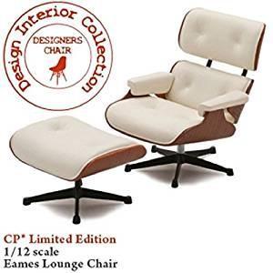 Design Interior Collection フィギュアシリーズ イームズ ラウンジチェア&オットマン CP01LT/No3 1/12スケール