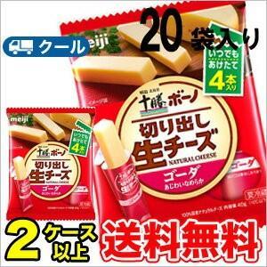 明治ボーノチーズ明治北海道十勝ゴーダ クール便 (10袋)2箱|plusin