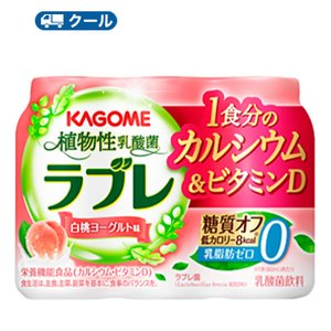 カゴメ ラブレLight 1食分のカルシウム&ビタミンD(80ml×3P×6)×2ケース【クール便】...