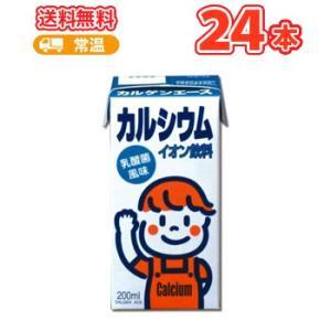 カルゲン製薬 カルゲンエース 200ml×24本  乳酸菌風味 イオン飲料 紙パック カルシウム不足を解消|plusin