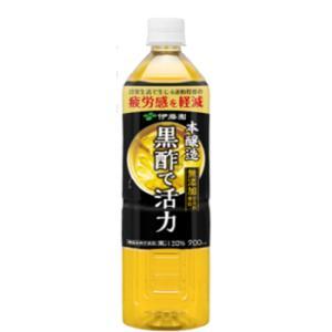 伊藤園 黒酢で活性 もろみ酢プラス 900ml×12本入ペットボトル|plusin