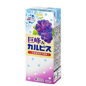 エルビー 巨峰&カルピス ぶどう 【250ml】×24本 /2ケース 〔乳酸菌飲料 ブドウ〕|plusin
