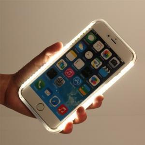 iPhone 7 Plus カバー「ライト付きケース(スタイリッシュ・エレガント)」 アイフォン スマホケース 送料無料(海外から直送)