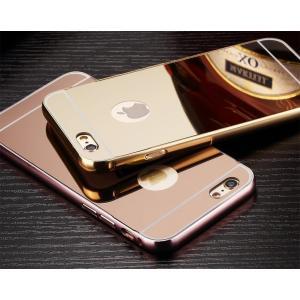 iPhone 7 Plus カバー「鏡面メッキカバー(シンプル・クール)」 アイフォン スマホケース 送料無料(海外から直送)