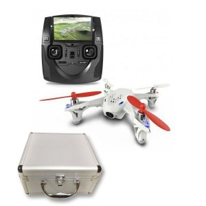 Hubsan X4 液晶送信機 空撮セット(+サービスバッテリー&アルミケース)ドローン FPV 送料無料(海外から直送)