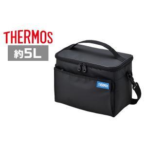 サーモス 保冷バッグ REQ-005 BK ブラック ソフトクーラー 5L|plusmart