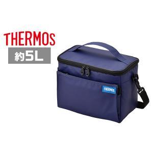 サーモス 保冷バッグ REQ-005 BL ブルー ソフトクーラー 5L|plusmart