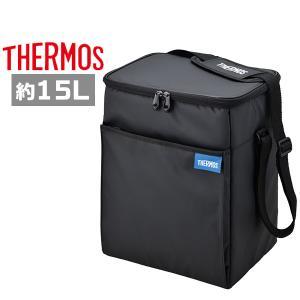 サーモス 保冷バッグ REQ-015 BK ブラック ソフトクーラー 15L|plusmart