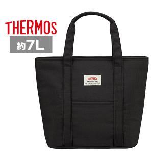 サーモス ランチバッグ保冷 REW-007 BK ブラック  7L 弁当袋 トートバッグ plusmart
